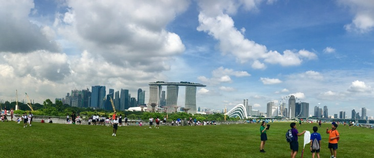 View of the city from the Marina Barrage